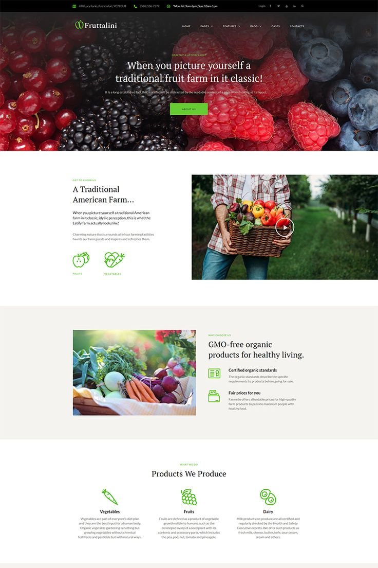 Need a powerful template for your organic fruit farm? Fruttalini is the right WordPress choice! Equipped with a bulk of perfectly developed plugins and functional features, this theme covers all needs of a modern farmer.  #wordpress #fruit #website #agriculture  https://www.templatemonster.com/wordpress-themes/fruttalini-organic-fruit-farm-responsive-wordpress-theme-67793.html