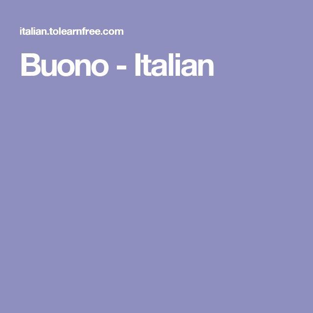 Buono - Italian