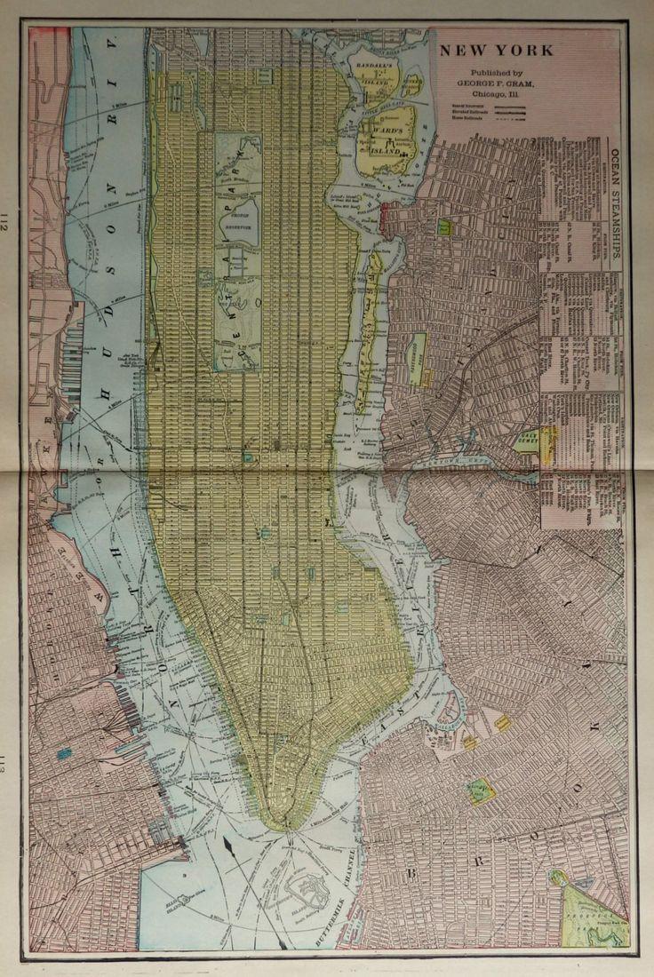 Louisiana Deer Map%0A      Antique Map of Manhattan