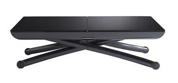 YOYO RISE & FALL TABLE IN BLACK GLASS WAS £1500 NOW £999. INCL.2 GLASS…