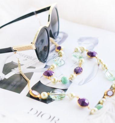 DIY Sunglasses chain - stylish summer craft idea // Nyakba akasztható napszemüveg tartó pánt  - kreatív nyári kiegészítő // Mindy - craft tutorial collection