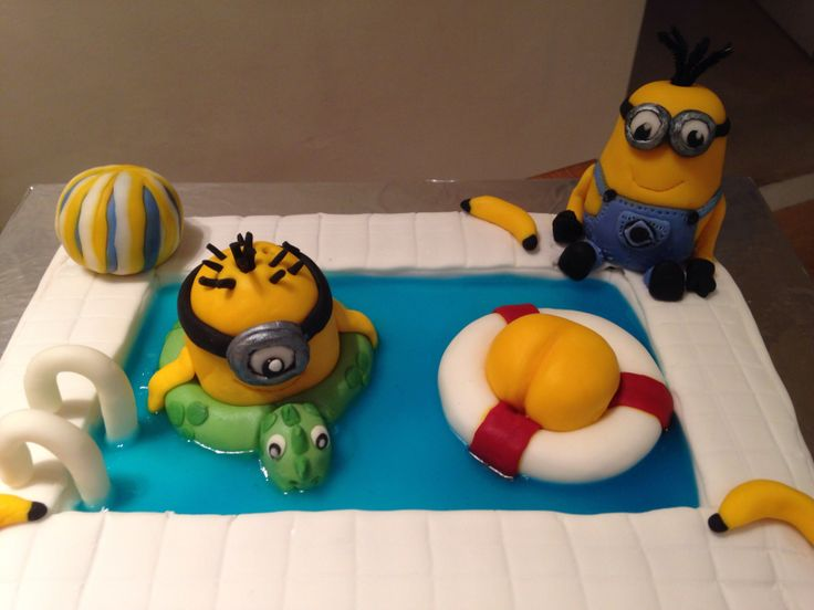 1000 Images About Minion Pool Cake On Pinterest Minion