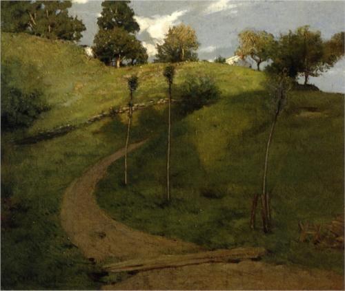 Lengthening Shadows - Julian Alden Weir (1852-1919): Oil On Canvas, Impressionist Painters, American Painters, American Art, Private Collection, Lengthen Shadows, Alden Weir, 1852 1919, Julian Alden