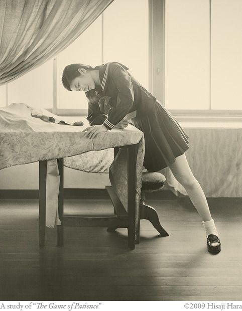 "A study of ""The Game of Patience"", in ""After Balthus"" exhibition by Hisaji Hara"