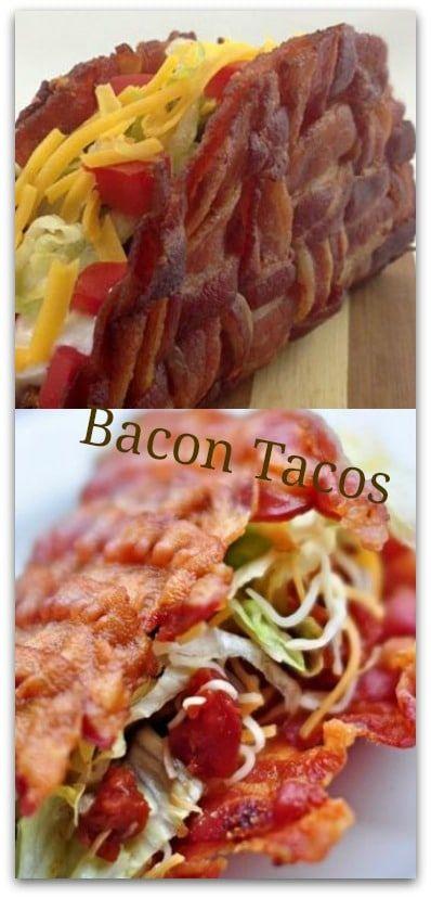 Bacon Tacos - Provolone Taco Shells Creative alternative to grain tortillas #carbswitch Please Repin