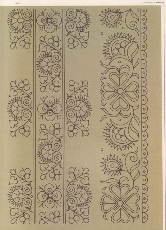 Slovak ethnic embroidery pattern