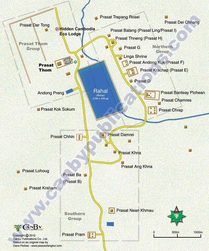 Koh Ker Map: Main Temple Area