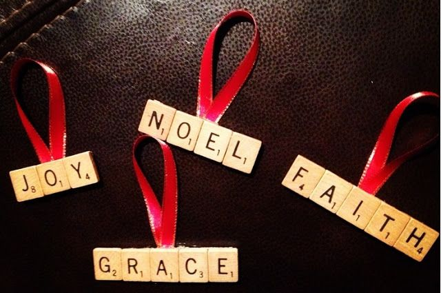 Post-Grad Crafting: #Scrabble Letter Ornaments - #Christmas #Ornaments
