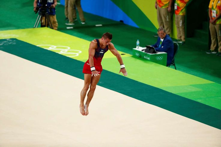 Best images from Aug. 14 at the Rio Olympics:      Samuel Mikulak of the United States competes during the men's floor exercise final in the Rio 2016 Summer Olympic Games at Rio Olympic Arena.