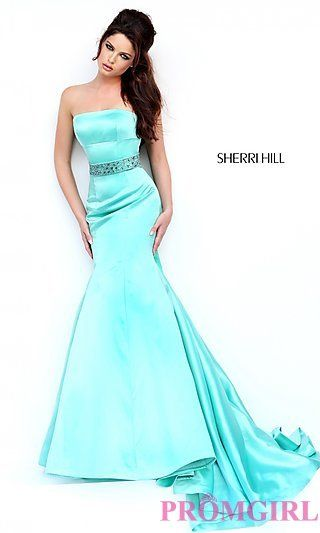 Floor Length Strapless Gown by Sherri Hill at PromGirl.com