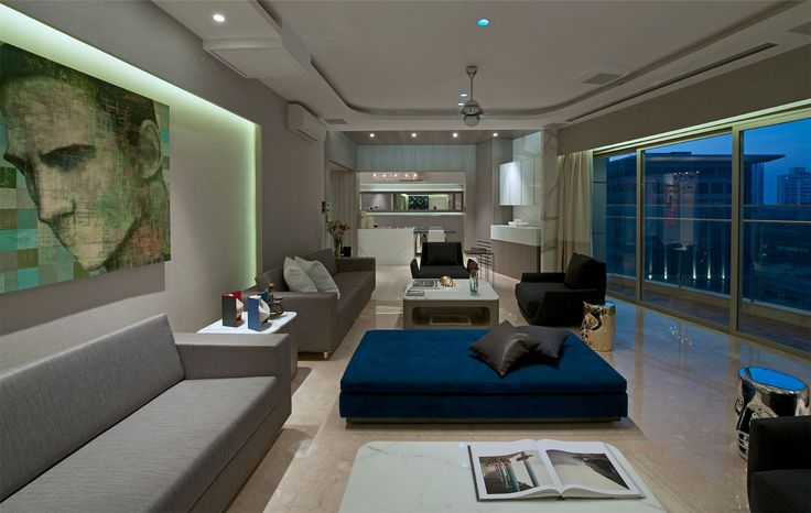 Gupta Apartment by ZZ Architects (3) The interior is sleek and luxurious, with design that is both elegant and full of character.