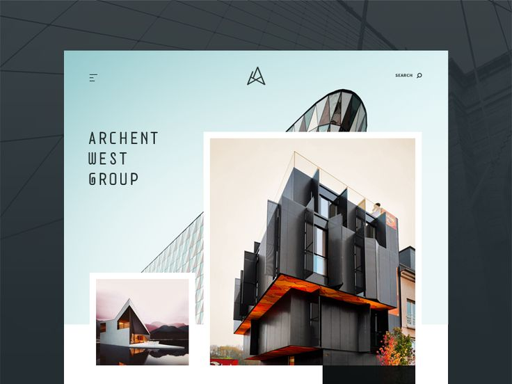 Architecture Website Concept (PSD + Sketch) by Sergiu Firez