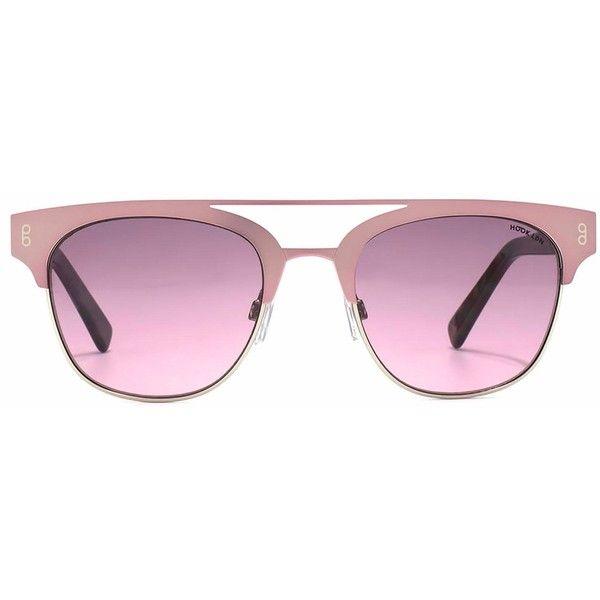 Hook LDN - Faraway Pink (175 CAD) ❤ liked on Polyvore featuring accessories, eyewear, sunglasses, metallic sunglasses, pink lens sunglasses, pink sunglasses, lens glasses and metallic glasses