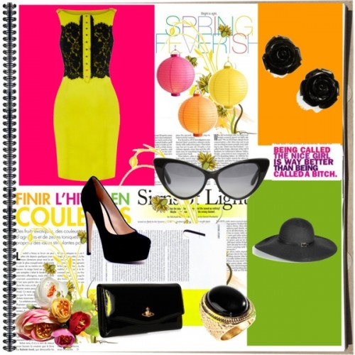 vestido: Cyfashion.com, zapatos: Sienshoes.com, Bolso: Vivienne Westwood lentes: Tom Ford, anillo: H