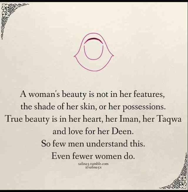 """""""A woman's beauty: so few men understand this. Even fewer women do."""""""