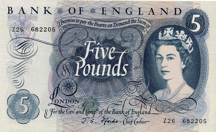1960's Five Pound Note