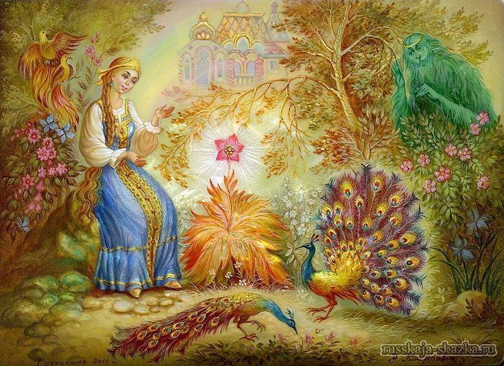Картинки на сказки аленький цветочек