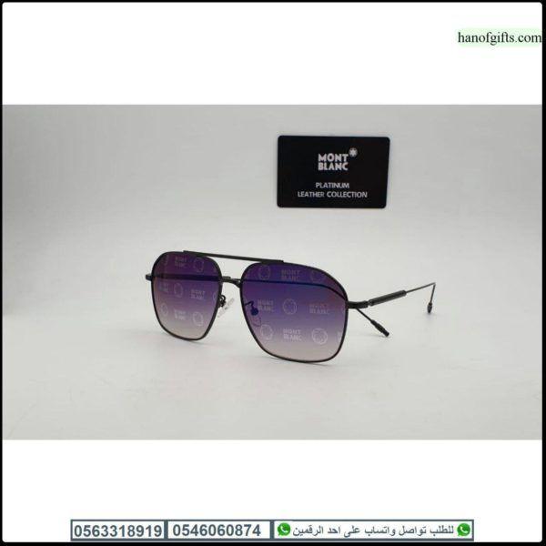 نظارات مونت بلانك رجاليه Mont Blanc مع جميع ملحقاتها و بنفس اسم الماركه هدايا هنوف Glasses Sunglasses