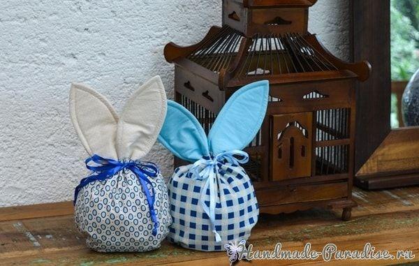 Мешочек с ушками для пасхальных подарков (2)