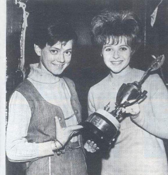 Rita Pavone & her teen-ager idol Brenda Lee in Nashville, TN - 1965.