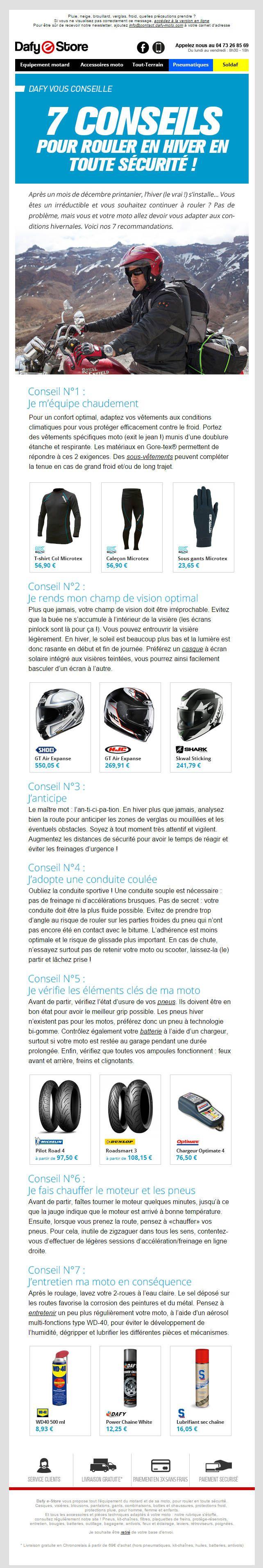 Dafy Moto : Email éditorial, conseils et sélection de produits