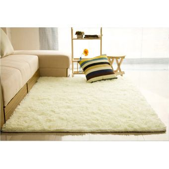Buy Shaggy Anti-skid Carpets Rugs Floor Mat/Cover 80x120cm Creamy White online at Lazada. Discount prices and promotional sale on all. Free Shipping.