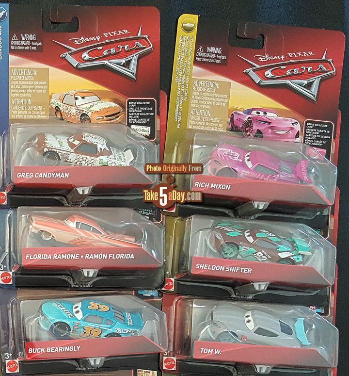 Mattel Disney Pixar Car Singles Case B C Disney Cars
