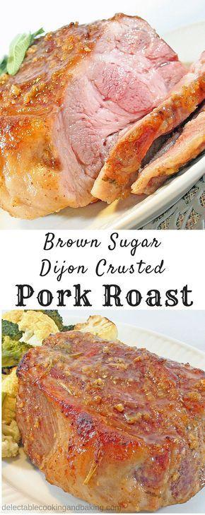 Brown Sugar Dijon Crusted Pork Roast at Delectable, - sub LC brown sugar www.delectablecookingandbaking.com