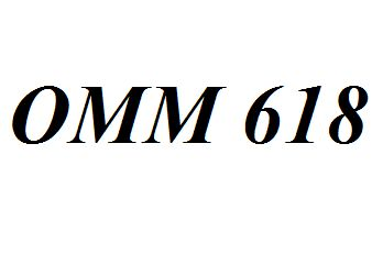 OMM 618 Entire Class Course Answers Here: http://www.scribd.com/collections/4247358/OMM-618