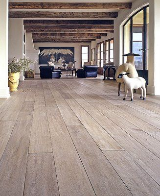 Bleached oak floor-thinking of doing this in den and bedrooms.  I have  cream…