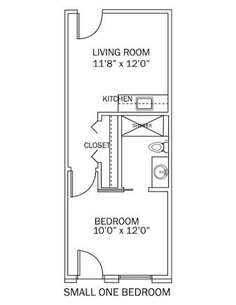 Small One Bedroom Apartment Floor Plans House Plan