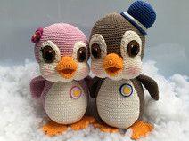 Pinguine Sally und Buck crochet Anleitung PDF