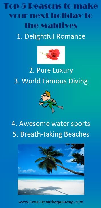 Maldives Holidays - top 5 reasons to make your next holiday to the Maldives.