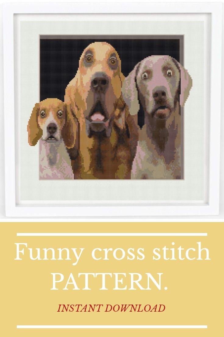 Valentine/'s Day Gifts Animals Cross Stitch Pattern Funny Printable PDF Dogs Set Patterns Pdf Dogs Lover Design Room Decor Cross Stitch A-010