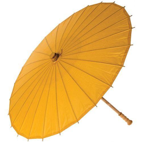 32 Inch Premium Paper Parasol - Yellows