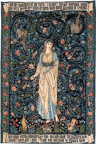 edward burne jones woven at merton abbey....for living room