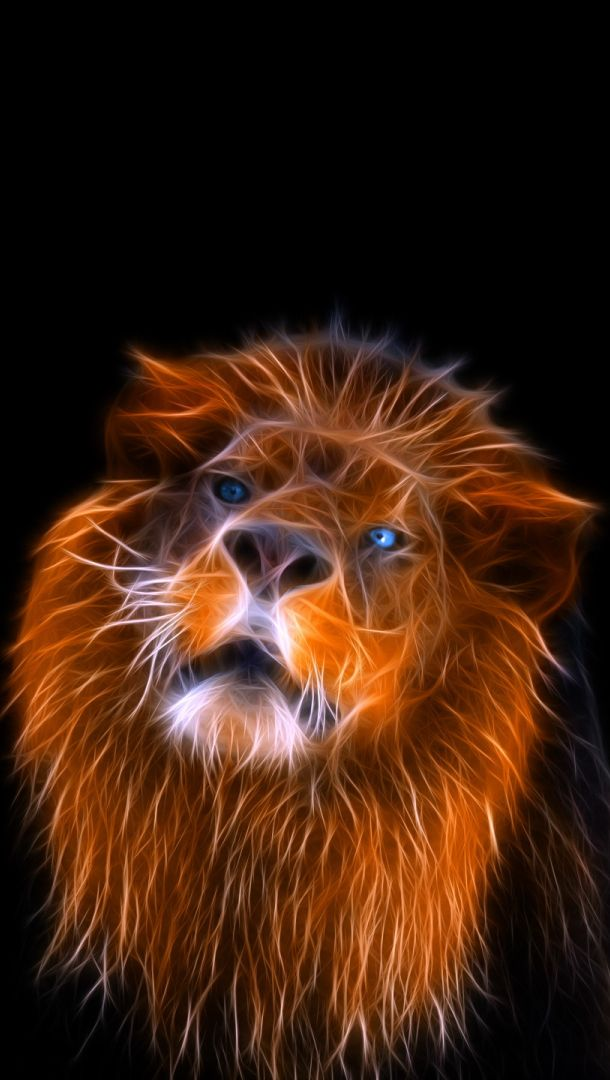 Fractal Lion Lion Attacks Lions Eyes Lions Grin Lion