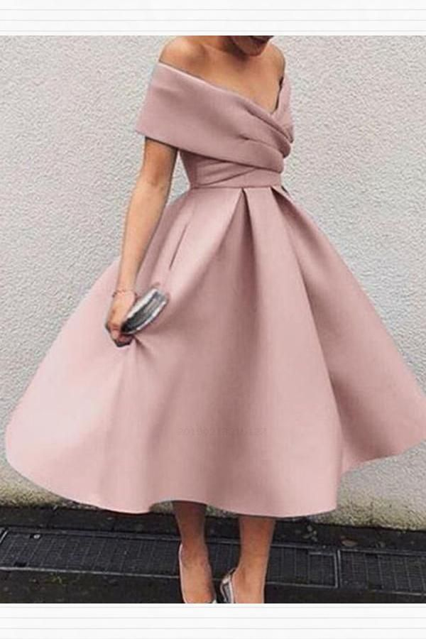 d1e1aa2f629 Popular Off the Shoulder Tea Length Short Homecoming Dresses Short  Homecoming Dresses