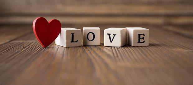 Love Blocks love heart word valentine's day blocks
