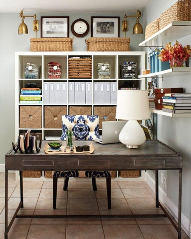 Home Office - shelving like this would be great. #home #office #design