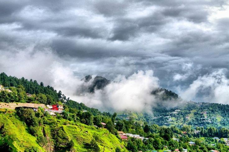 Cloudy weather at Murree - Pakistan