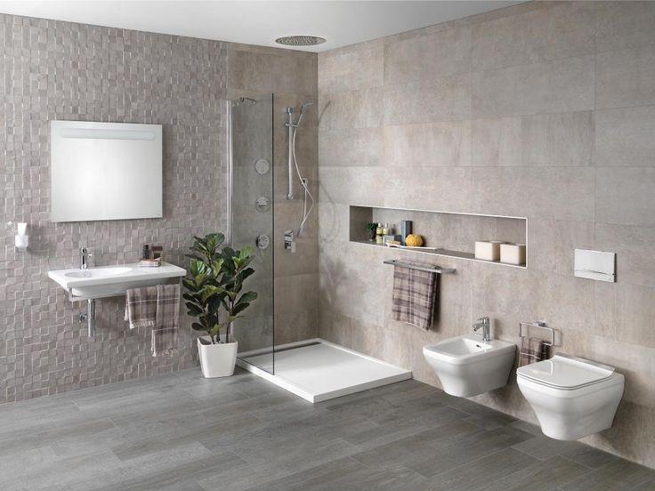 Contemporary Bathroom Design Porcelanosa Bathroom #toalleros #towel rail