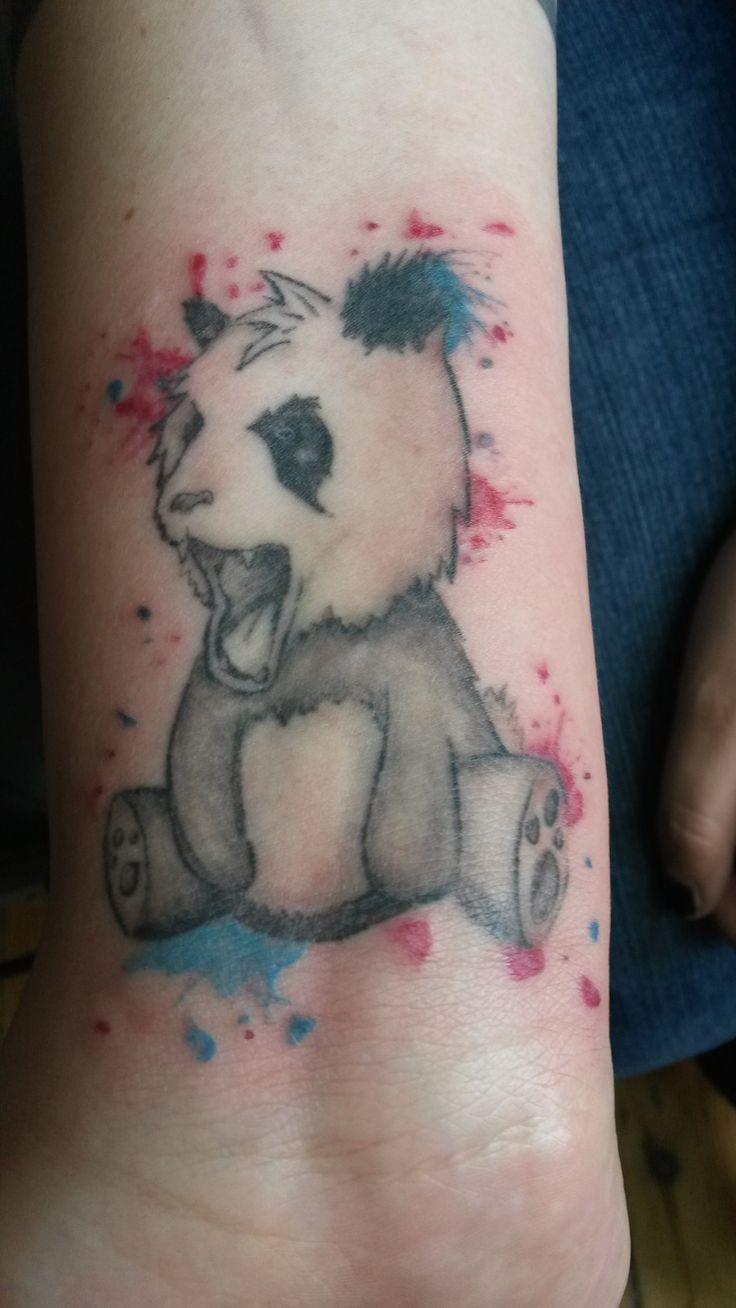 Baby panda bear tattoo