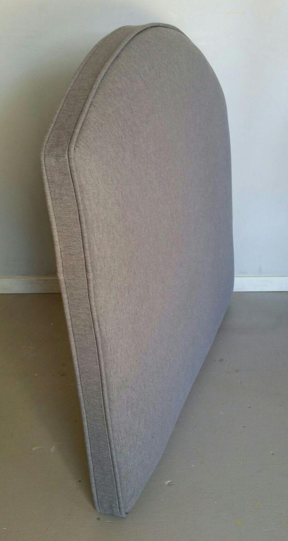 Twin size grey boys upholstered headboard custom wall mounted