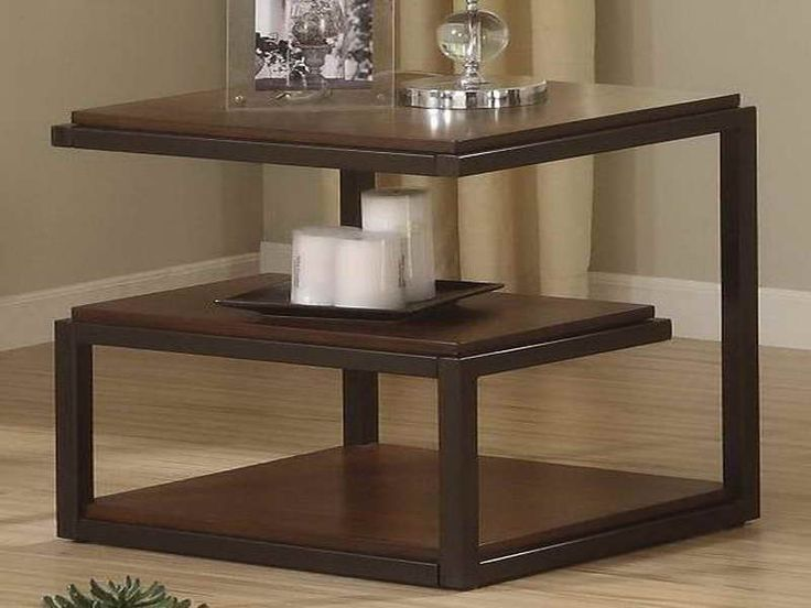 ... Black Polished Iron Frame Mixed With Brown Wooden Table Top Also Nested  End Tables, Endearing Unique End Tables For Decorate Your Amusing Living  Room ... Part 56