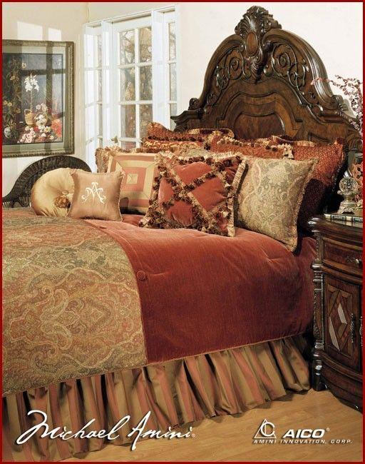 AICO Furniture - Woodside Park Queen Bedding Set (12pc) - AIC-BCS-