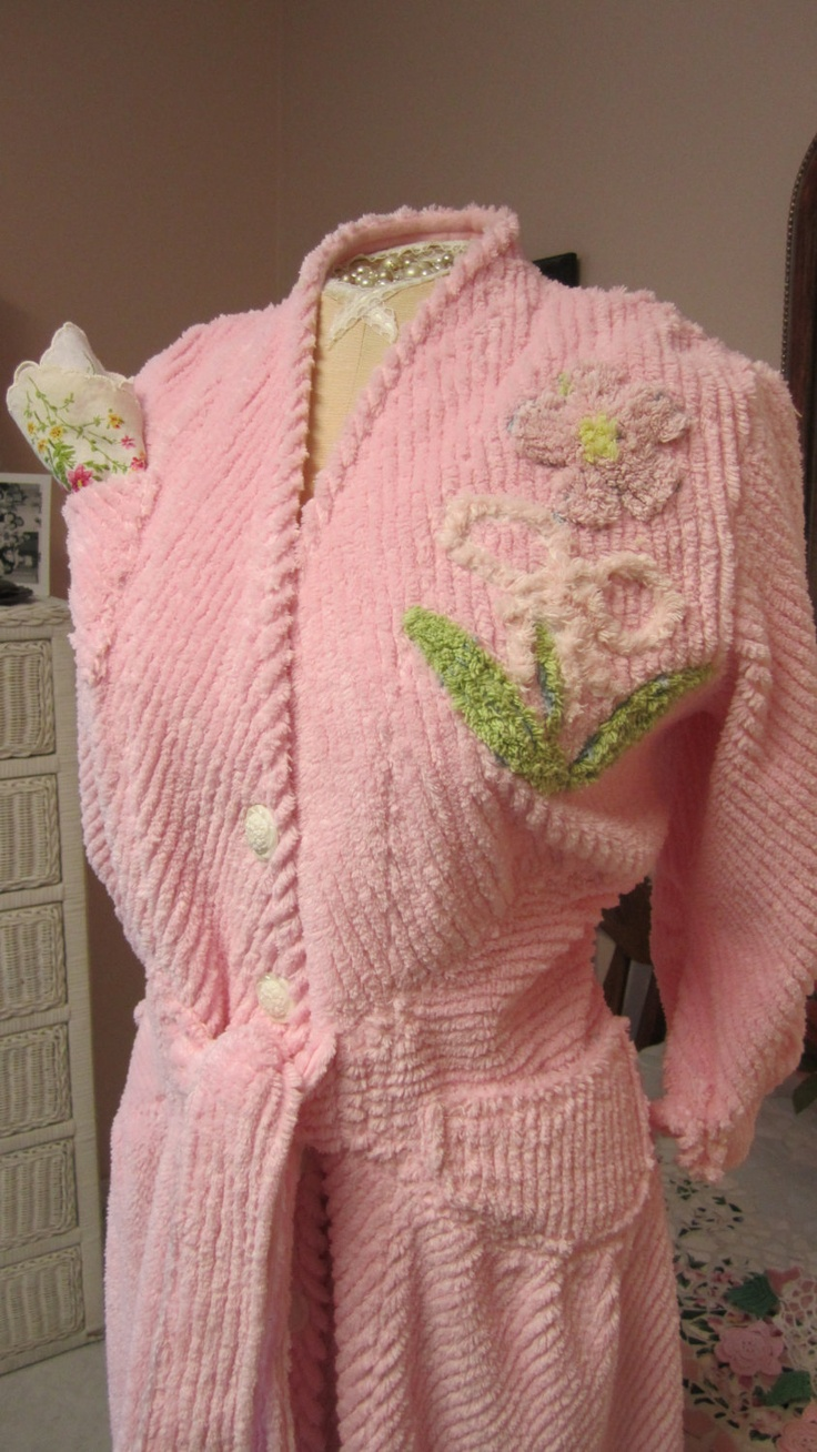 Glamour Girl Bath Robe: Bath Robes, Winter Robes, Shabby Chic, Girl Chenille, Chenille Bathrobes, Girl Bath