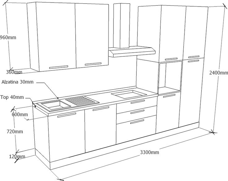 Mobili Cucina Online. Free Cucina Componibile Moderna Lineare Mithos ...