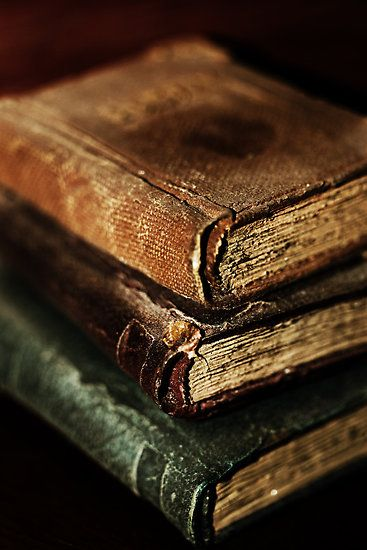 Old books make me want to read more just so my new books will look like this one day.