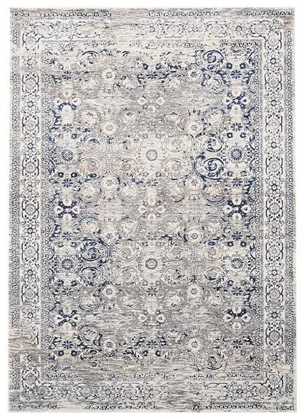 The subtle tones and traditional patterns in this rug result in a stunning statement piece: Lisala 457 Blue Taupe Beige Traditional Vintage Patterned Rug
